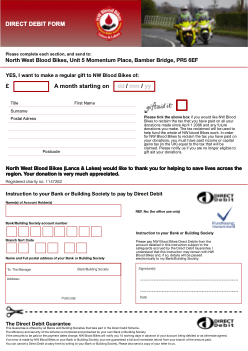 Donatation Direct Debit Form