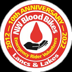 North West Blood Bikes Lancashire and Lakes Logo
