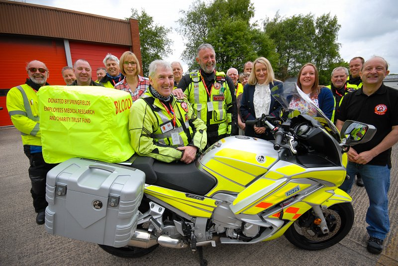 Blood bikers get a nuclear boost