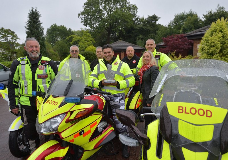 BLOOD BIKERS RIDE AWAY TRIUMPHANT AS RAV WILDING CRACKS THE CASE OF WHO WON LOTTERY AWARD