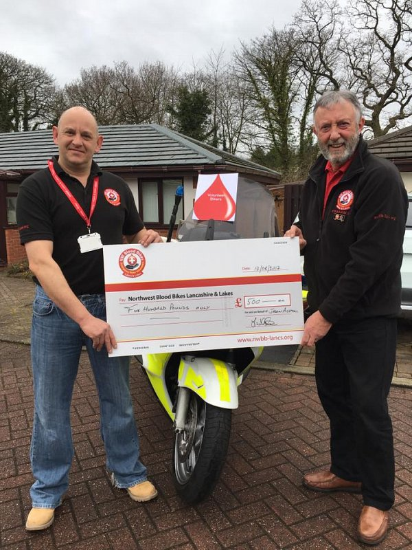 Facebook group donates £500 to NWBB-LL