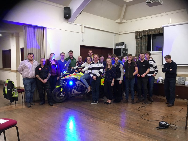 Young farmers enjoy blood bike visit